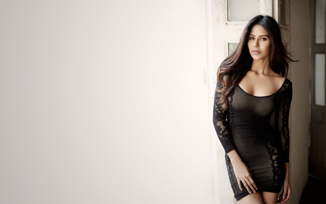 sonam bajwa bollywood actress model girl beautiful brunette pretty cute beauty sexy hot pose face eyes hair lips smile figure indian  wallpaper