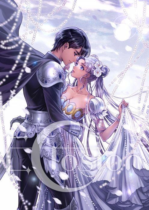 couple bishoujo senshi sailor moon wallpaper