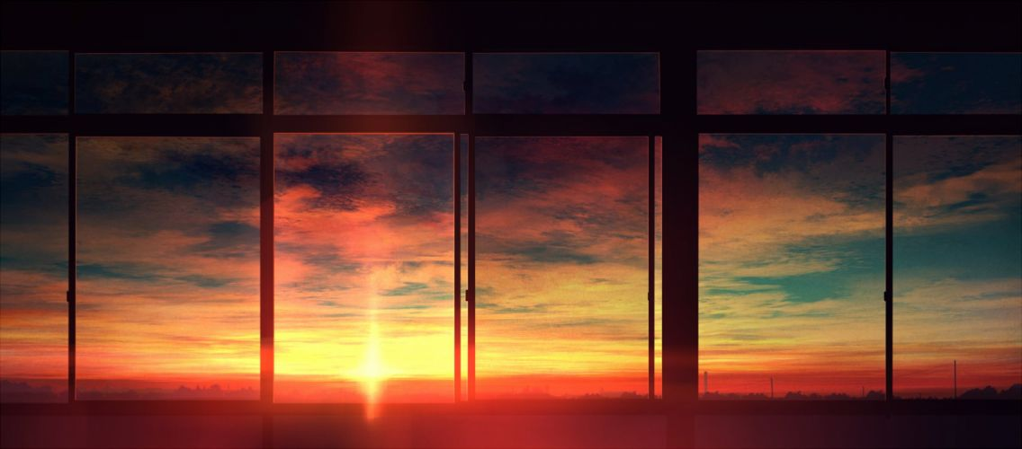 original sunset clouds landscape wallpaper