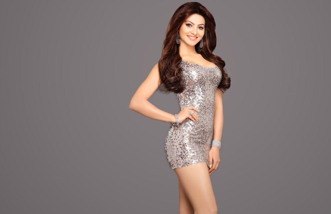 urvashi-rautela bollywood actress model girl beautiful brunette pretty cute beauty sexy hot pose face eyes hair lips smile figure indian  wallpaper