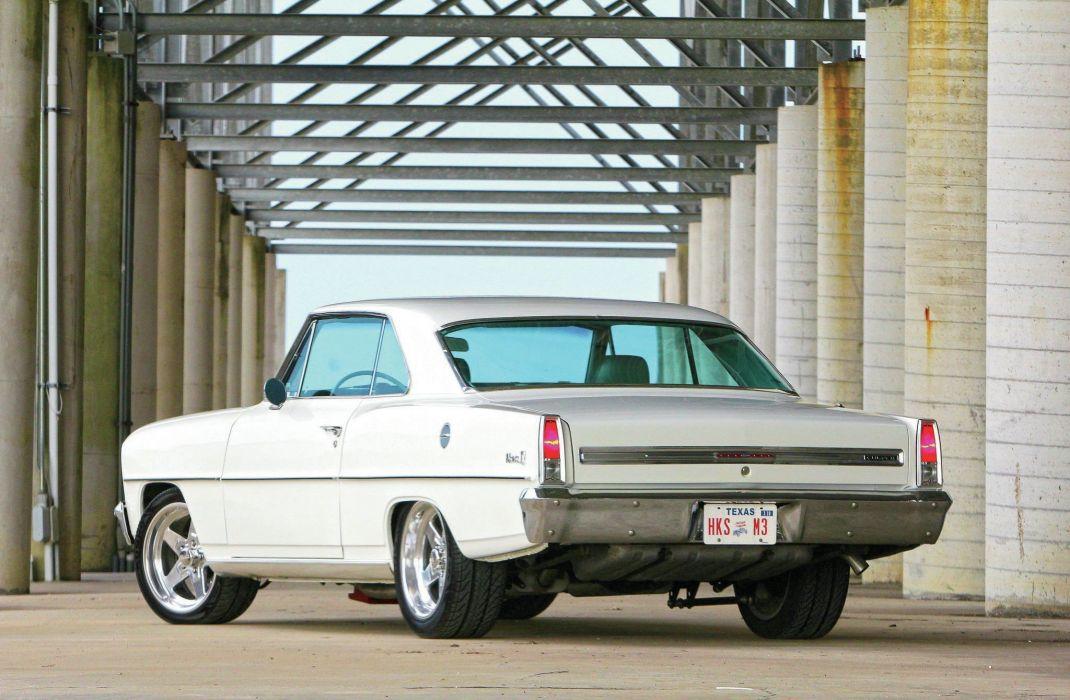 1966 Chevy (II) Nova cars white wallpaper
