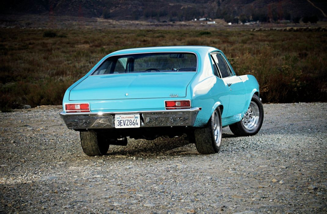 1971 Chevy Nova cars blue wallpaper
