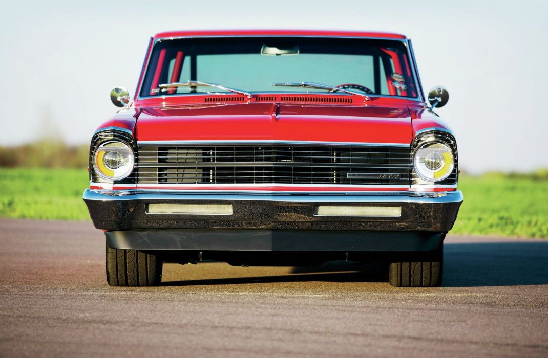 1967 Chevy Nova cars red wallpaper