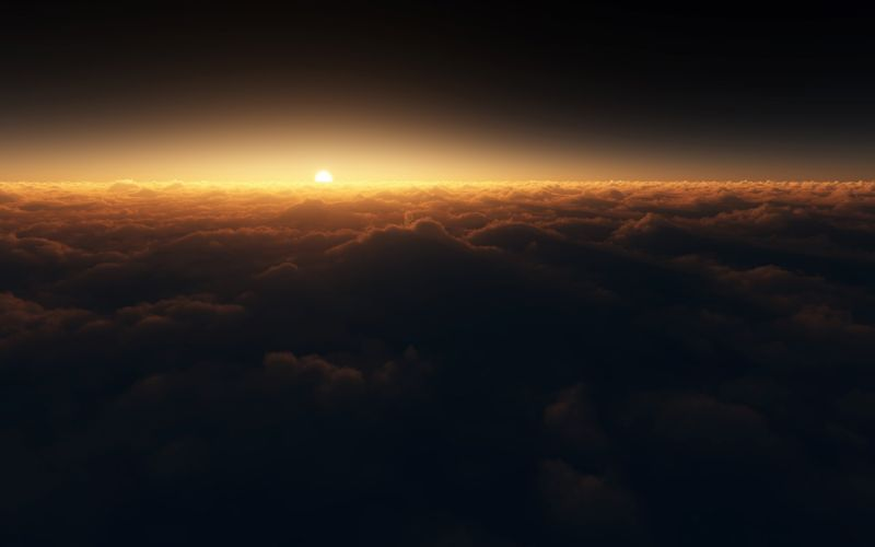 Sunset Clouds Horizon wallpaper