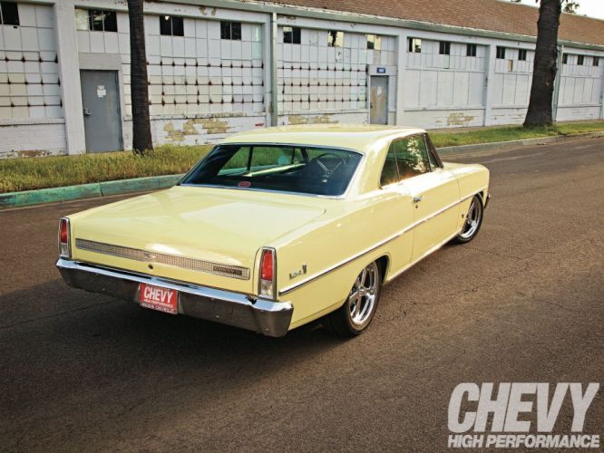 1967 chevy nova cars yellow wallpaper