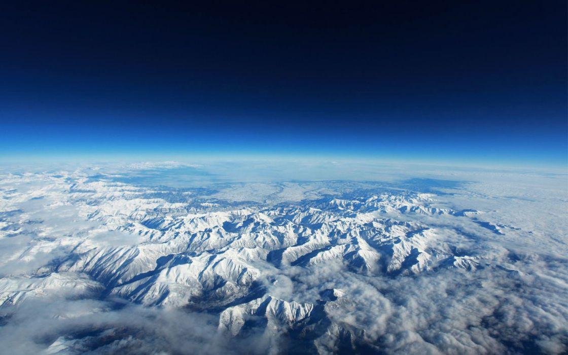 Earth Mountain Range wallpaper