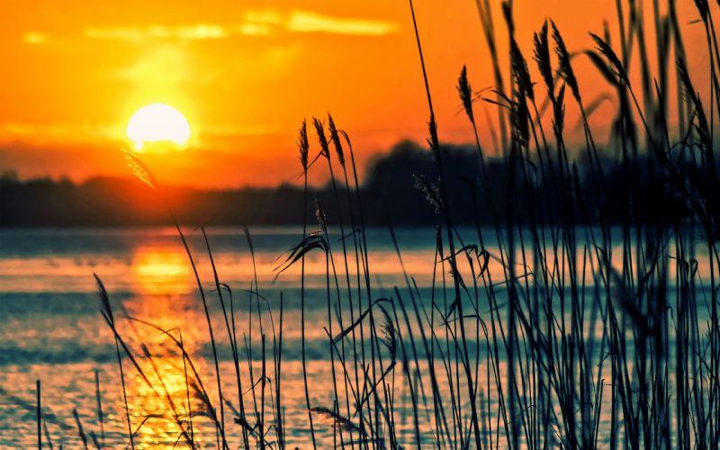 Sunset Lake wallpaper
