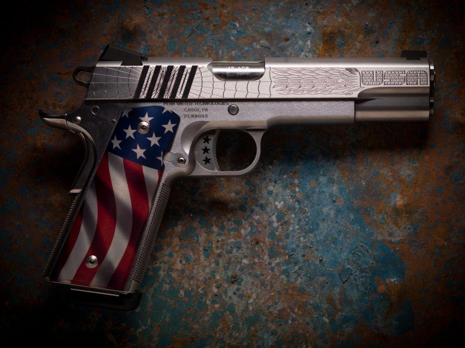 American Flag 1911 Pistol wallpaper