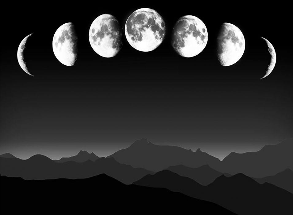 Moonscape BW wallpaper