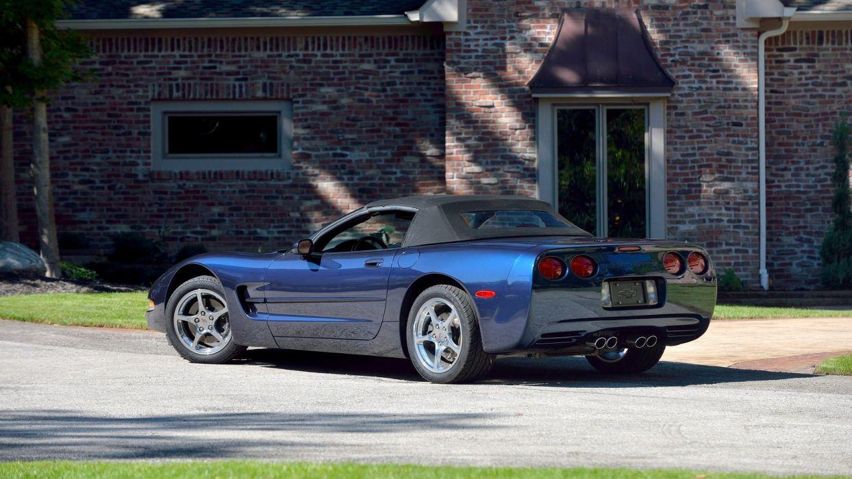 2000 CHEVROLET CORVETTE CONVERTIBLE cars blue wallpaper