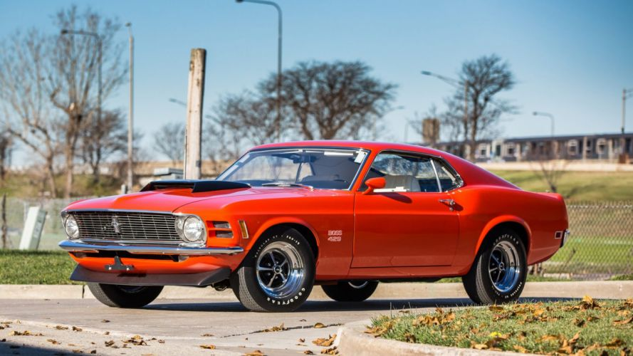 1970 FORD MUSTANG BOSS 429 FASTBACK cars red wallpaper