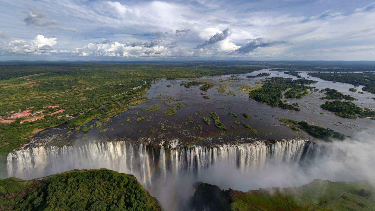 cataratas victoria africa naturaleza wallpaper