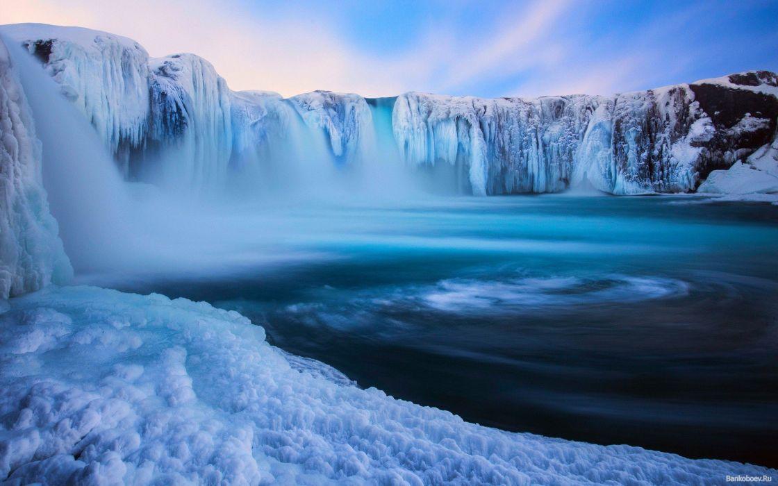 cataratas heladas hielo invierno wallpaper