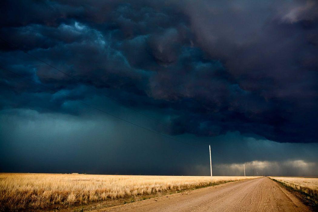 tormenta camino naturaleza nubes wallpaper
