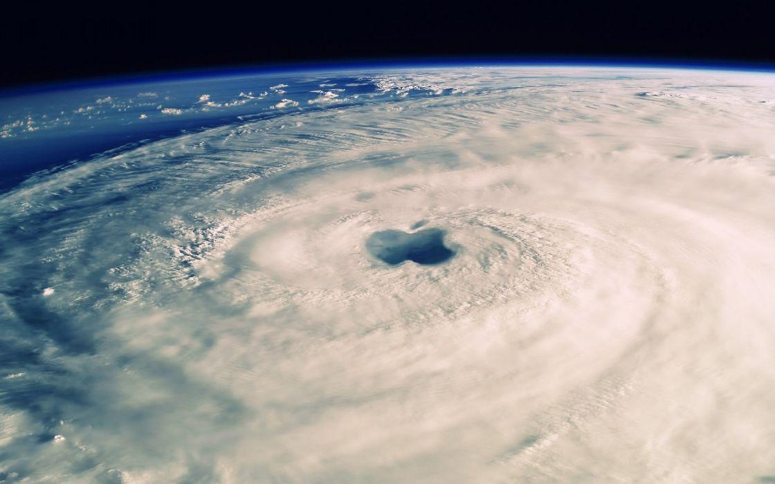huracan espacio nubes ojo wallpaper