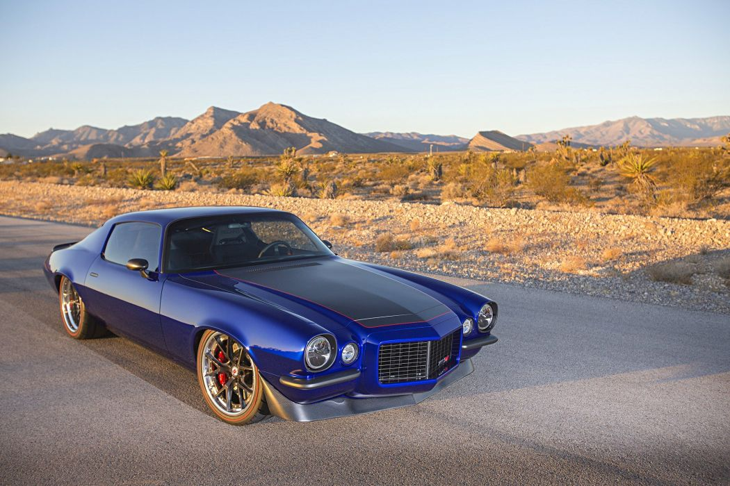 1971 chevy Camaro cars blue modified wallpaper