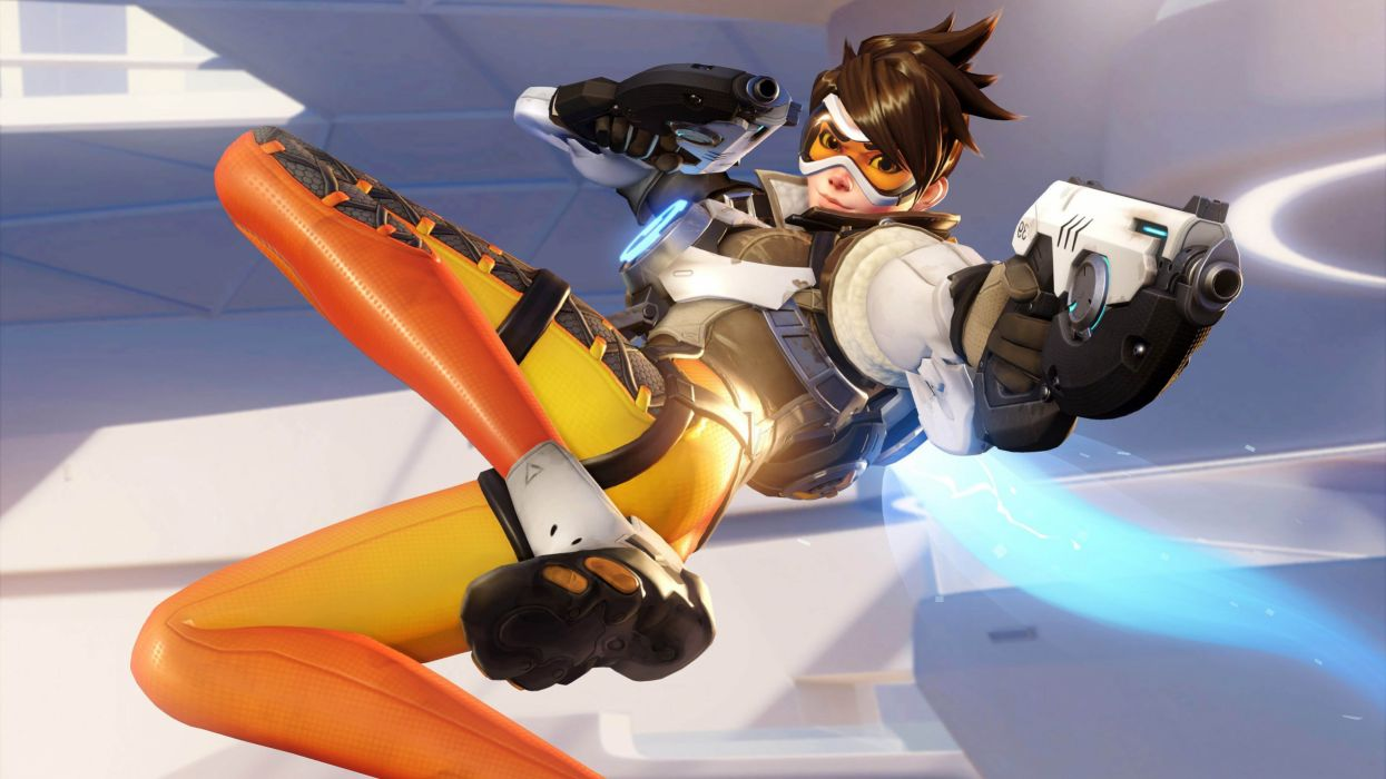overwatch-tracer-firing-wallpaper-6347 wallpaper