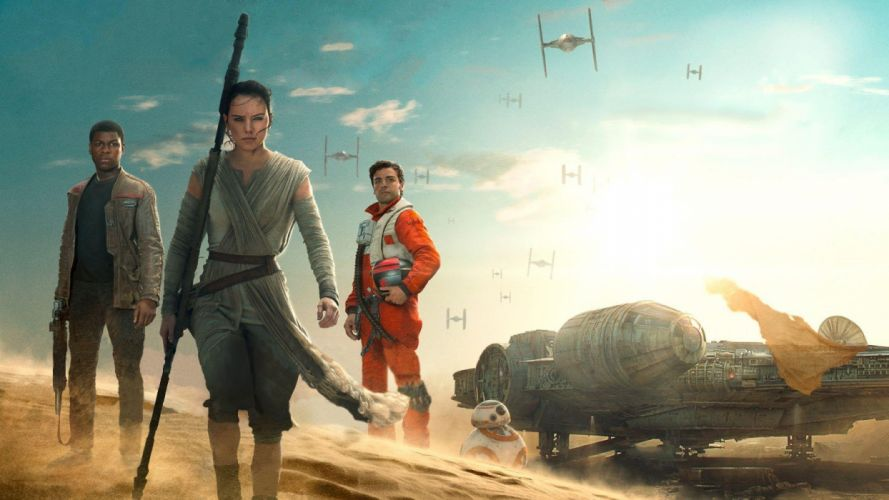 star-wars-episode-vii-the-force-awakens-finn-rey-poe-wallpaper-5826 wallpaper