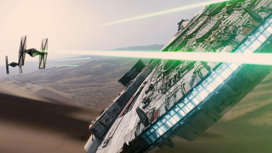 star-wars-the-force-awakens-tie-fighters-chasing-millennium-falcon-wallpaper-5215 wallpaper