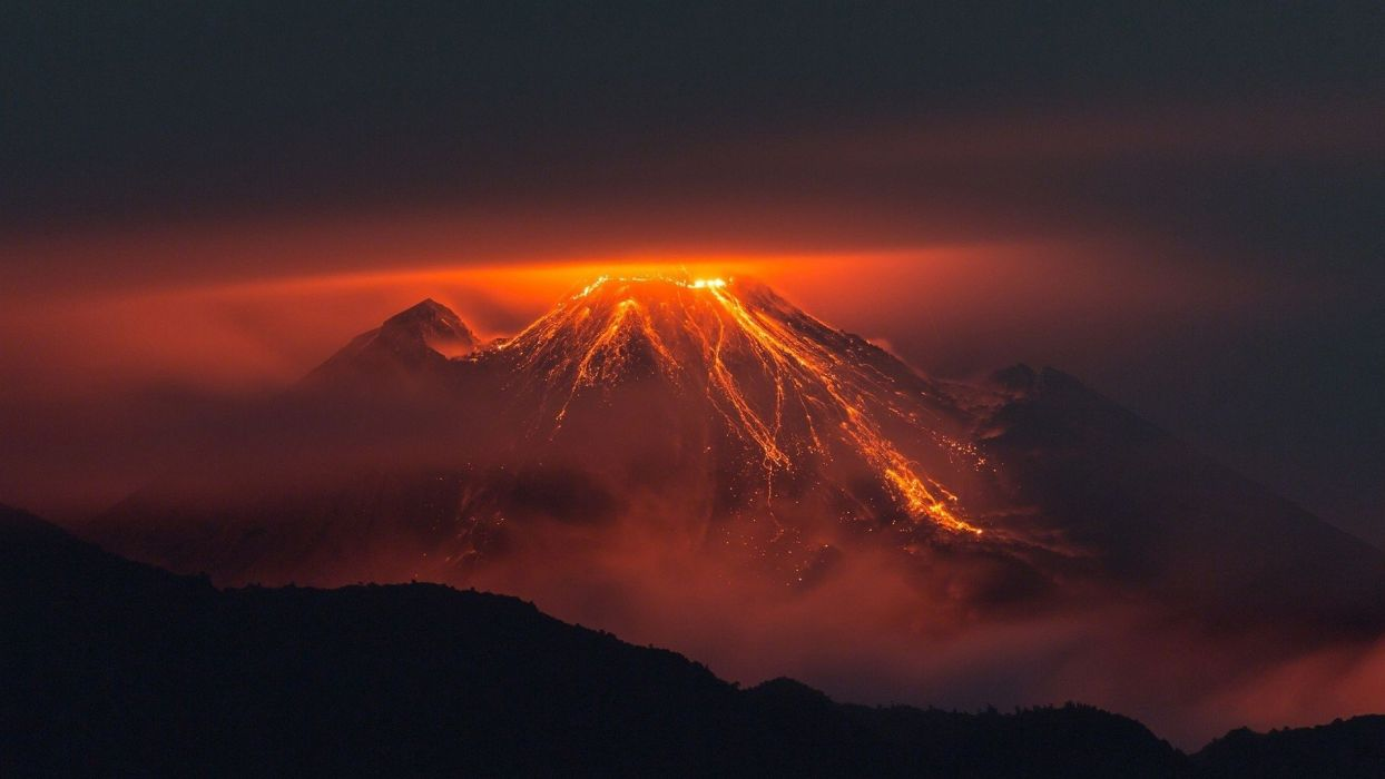 volcan lava montay wallpaper