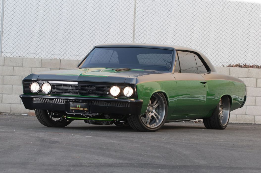 1967 Chevrolet Chevelle cars modified green wallpaper