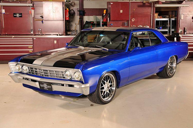 1967 Chevrolet Chevelle cars blue modified wallpaper
