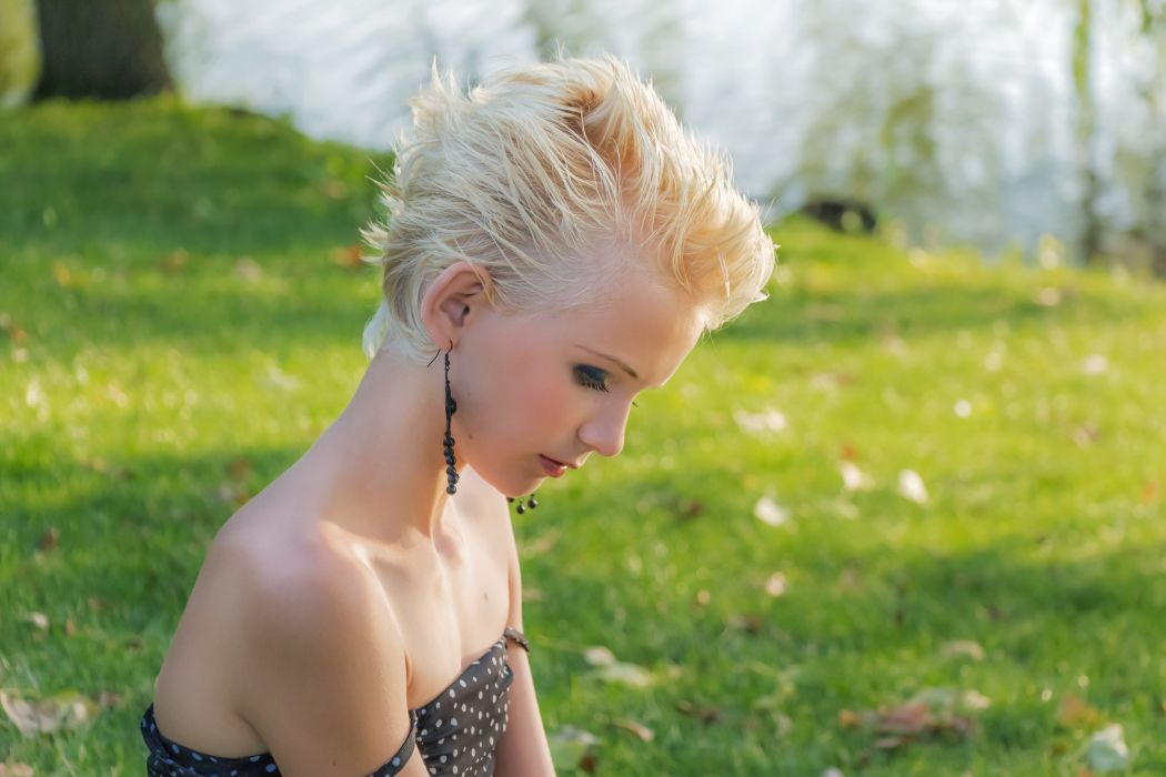 Profile Blonde Girl Young Young Girl Lady wallpaper