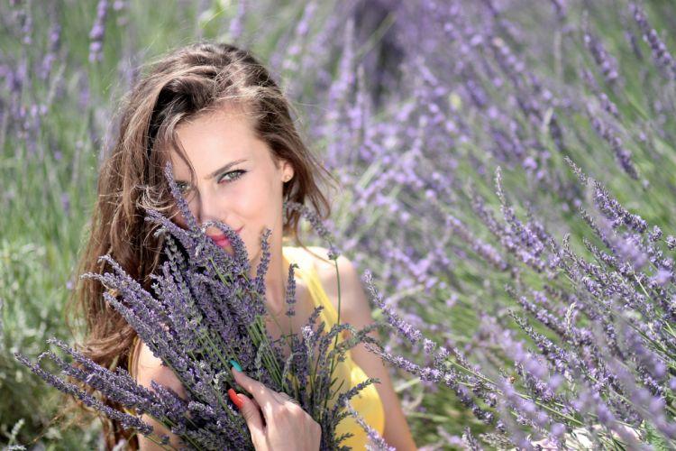 Girl Lavender Flowers Mov Beauty Nature h wallpaper