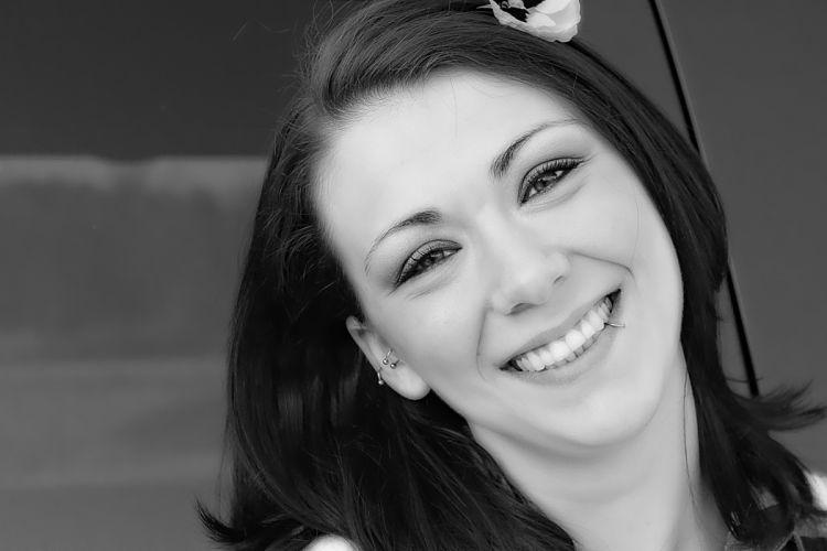 Girl Laugh Face Joy Smiling Portrait wallpaper