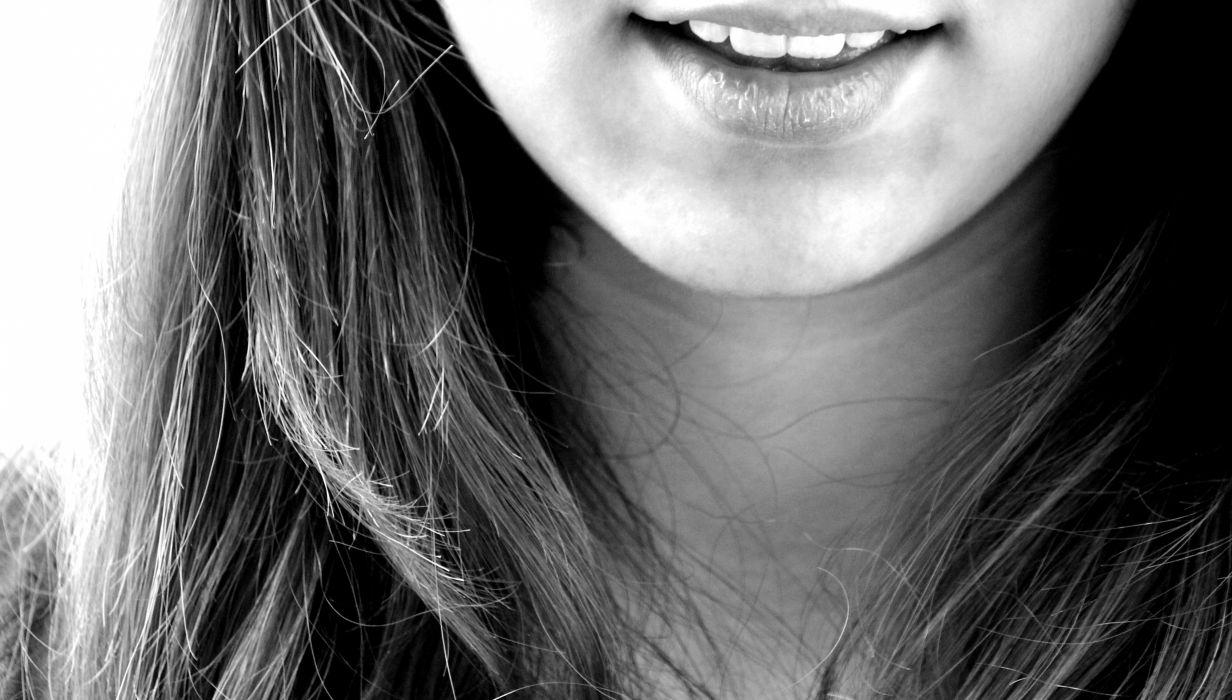 Smile Laugh Girl Teeth Mouth Chin wallpaper