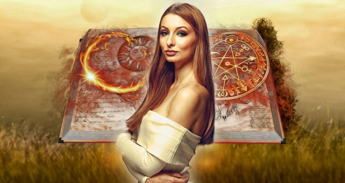 Magician Female Woman Fantasy Woman wallpaper