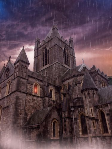 Cathedral Haunted Cathedral Haunted House Gothic wallpaper