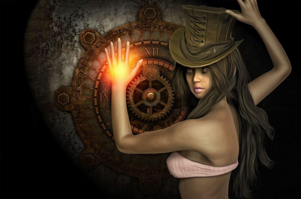 Steampunk Female Girl Fantasy Girl Fantasy wallpaper