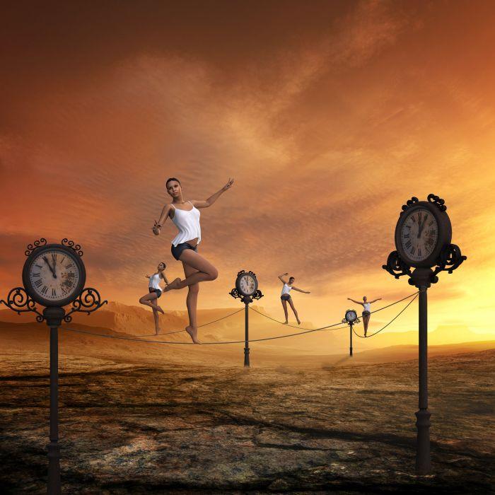 Time Fast Moving Balancing Act Passes Stress wallpaper