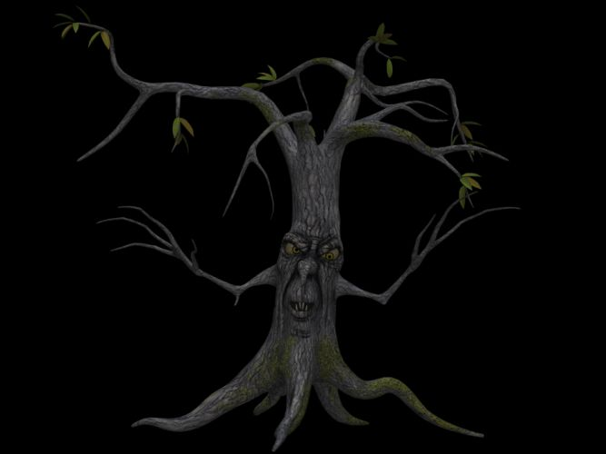 Tree Digital Art Isolated Without Leaves Leafless wallpaper
