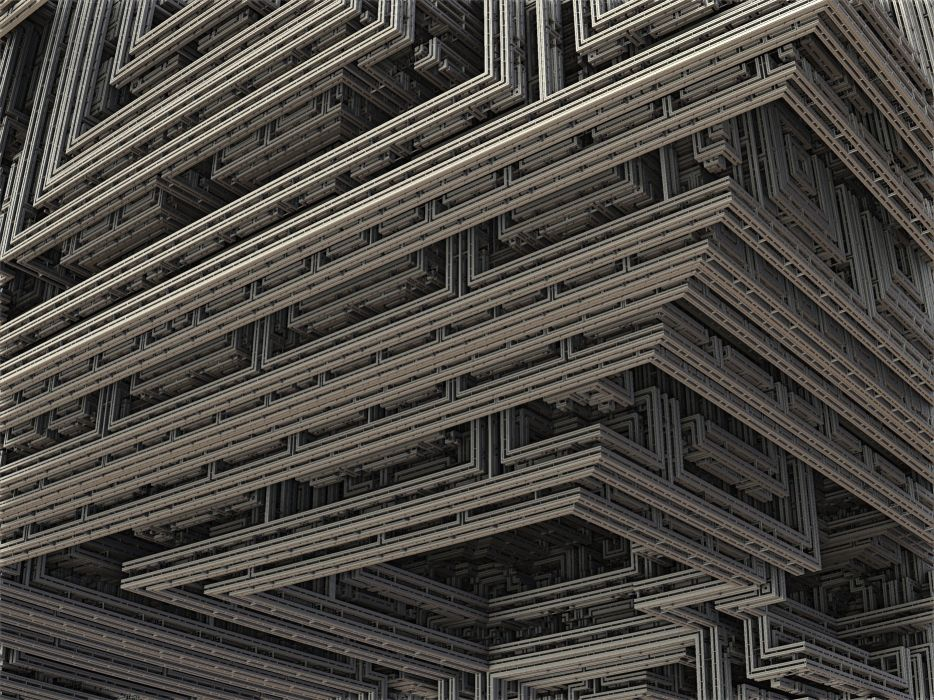 Fractal 3d Construction Industry Design Build f wallpaper