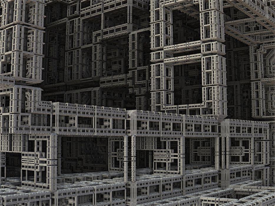 Fractal 3d Construction Industry Design Build wallpaper