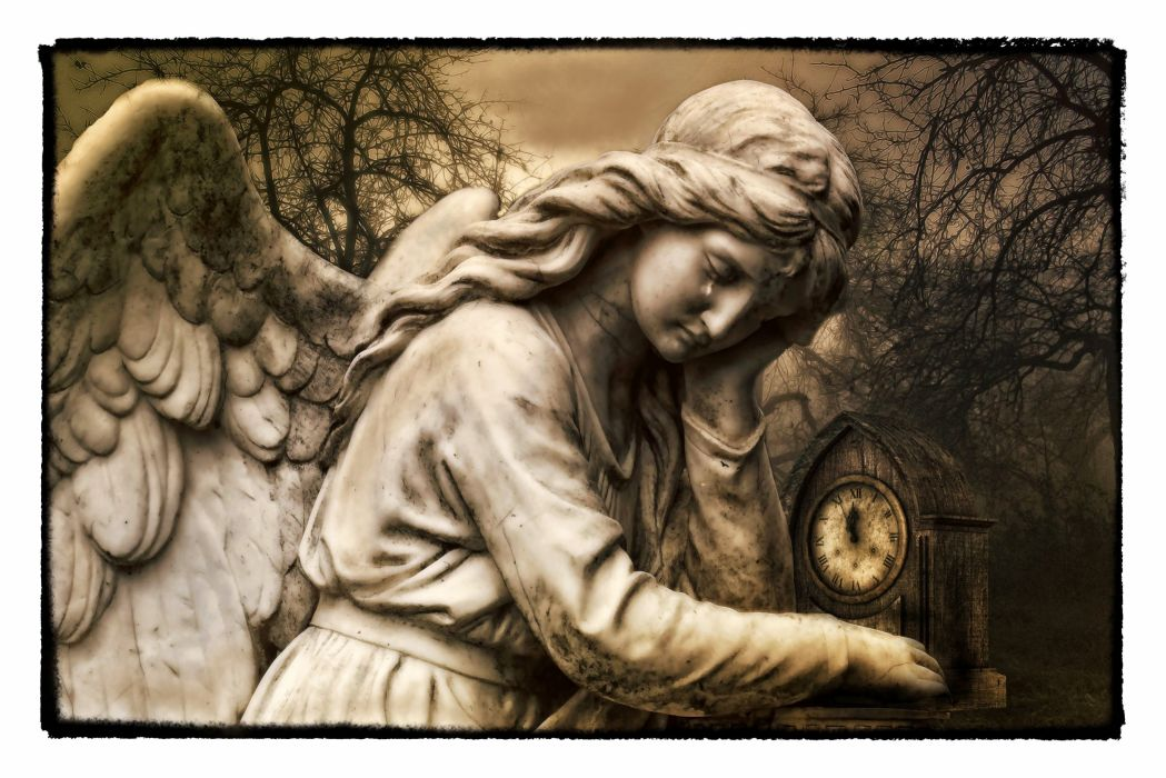 Gothic Fantasy Dark Dark Angel Angel Tear Mystery wallpaper