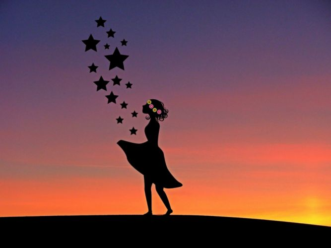 Sterntaler Girl Fairy Tale Fairy Tales Child Human wallpaper