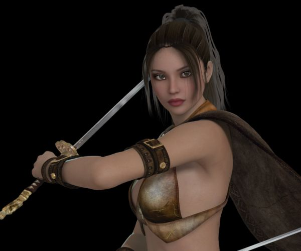 Woman Warrior Elegant Beauty Determined Heroine wallpaper