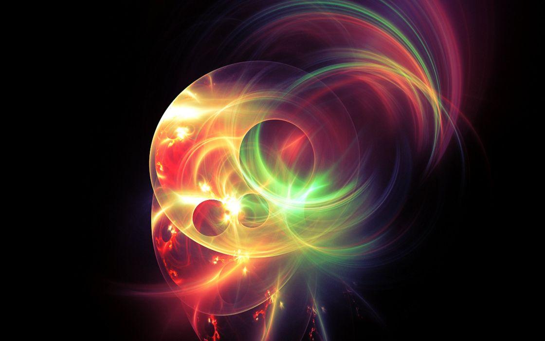 Fractal Light Light Fractal Neon Neon Plasma wallpaper