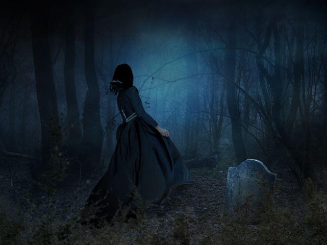 Scary Eerie Spooky Dark Fog Fantasy Creepy wallpaper