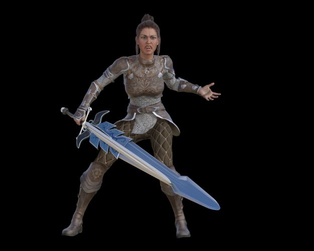 Woman Warrior Beauty Elegant Determined Amazone wallpaper