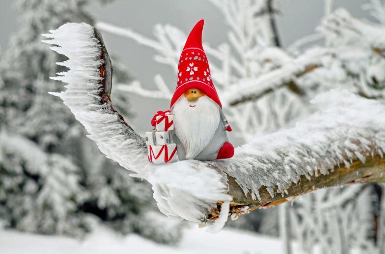 Santa Claus Christmas Motif Fig Nicholas Imp Gifts wallpaper