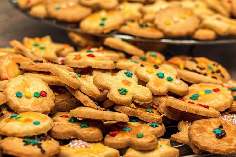 Christmas Cookies Christmas Biscuits Biscuit Cookie wallpaper