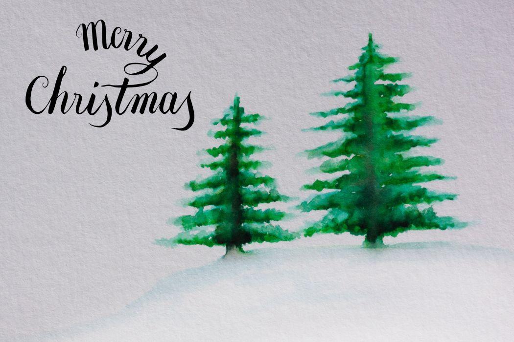 Christmas Map Christmas Tree Green Snow wallpaper