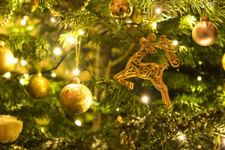 Christmas Golden Xmas Holiday Gold Decoration wallpaper