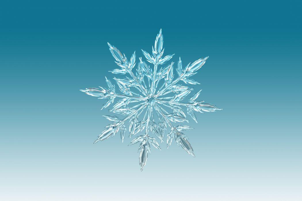 Ice Crystal Crystal Snowflake Christmas wallpaper