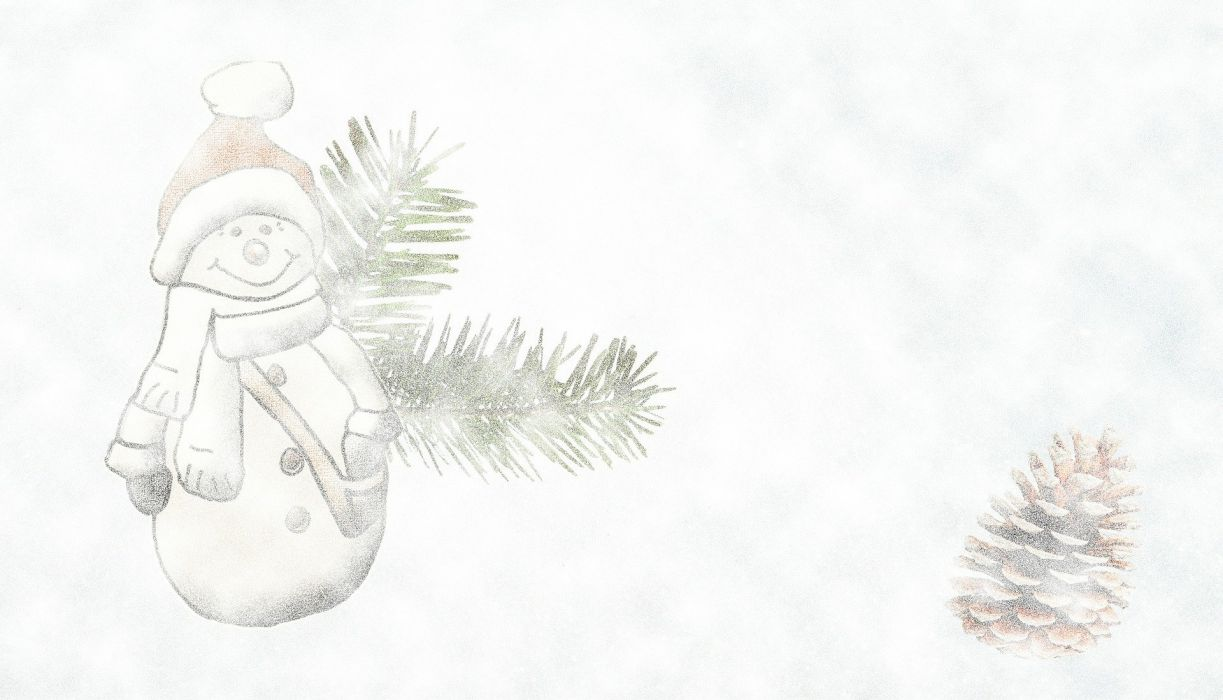 Snow Man Advent Snow Storms Background Hell Snow wallpaper