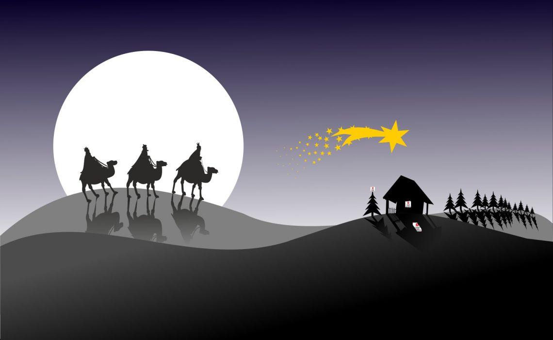 Three Kings Kacper Melchior Baltazar Christmas wallpaper